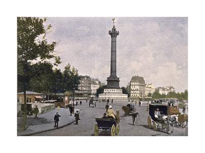 The Place De La Bastille, 1900--Giclee Print