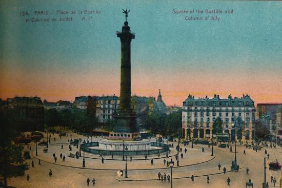 The Place de la Bastille and the July Column, Paris, c1920-Unknown-Giclee Print