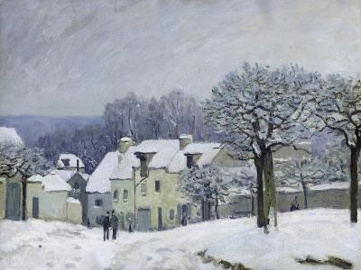 The Place Du Chenil at Marly-Le-Roi, Snow, 1876-Alfred Sisley-Giclee Print