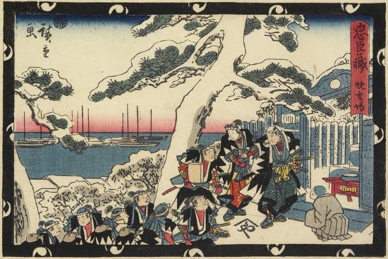 The Place of Offering Incense, 1843-1847-Utagawa Hiroshige-Giclee Print