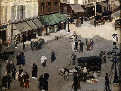The Place Pigalle in Paris, 1880S-Pierre Carrier-belleuse-Giclee Print