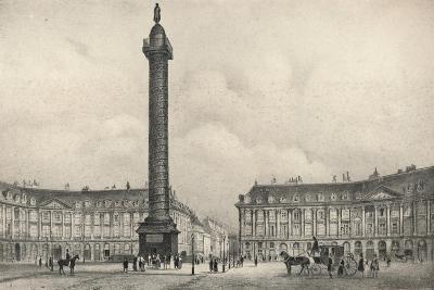 The Place Vendome Column, 1915-Jean Jacottet-Giclee Print