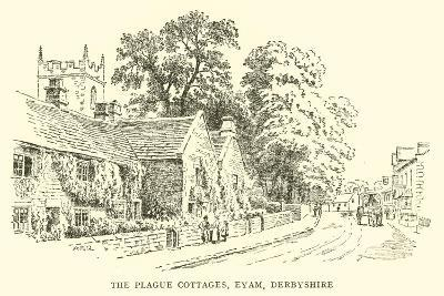 The Plague Cottages, Eyam, Derbyshire-Alfred Robert Quinton-Giclee Print