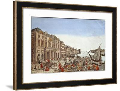 The Plague in Marseille, 1726--Framed Giclee Print