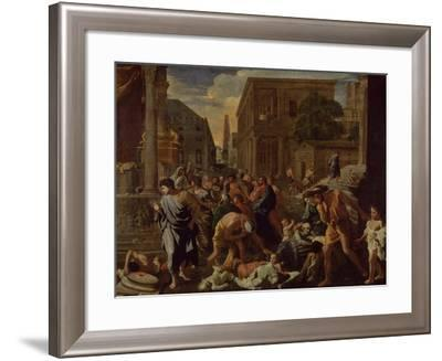 The Plague of Ashdod, or the Philistines Struck by the Plague, 1630-31-Nicolas Poussin-Framed Giclee Print