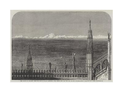 The Plains of Lombardy from the Roof of Milan Cathedral-Samuel Read-Giclee Print