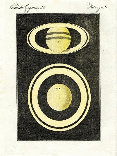The Planet Saturn and its System of Rings--Giclee Print