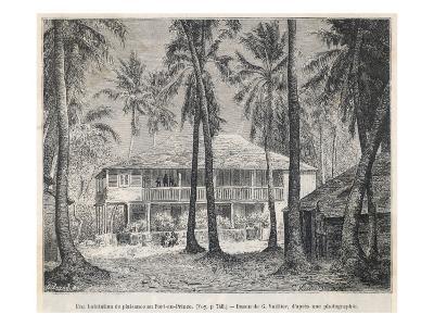 The Plantation House at Port- Au-Prince--Giclee Print