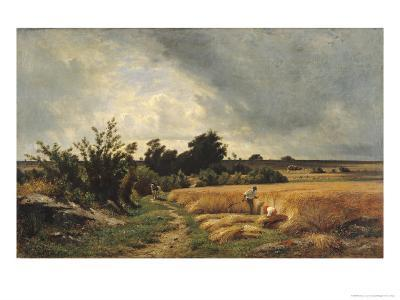The Plateau of Ormesson - a Path Through the Corn-Francois Louis Francais-Giclee Print