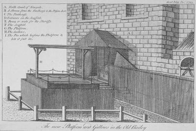 The Platform and Gallows at Newgate Prison, Old Bailey, City of London, 1783--Giclee Print