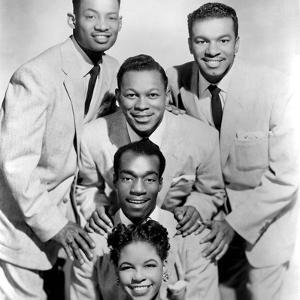 The Platters : Bottom-Top : Zola Taylor, Herb Reed, Tony Williams C. 1955