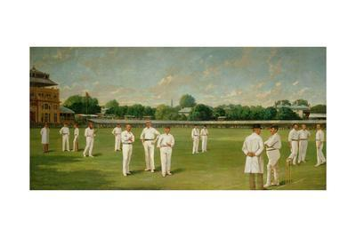 The Players in the Field - Lords on a Gentlemen V Players Day, 1895-Dickinsons-Giclee Print