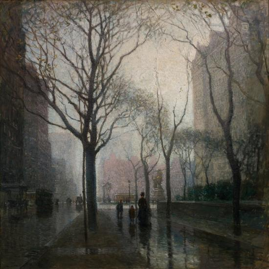 The Plaza after the Rain, 1908-Paul Cornoyer-Giclee Print