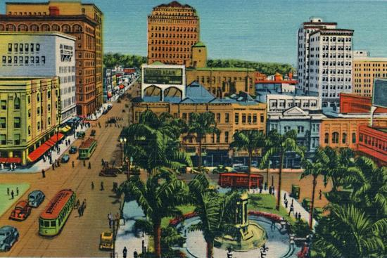 'The Plaza. San Diego, California', c1941-Unknown-Giclee Print