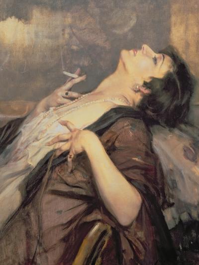 The Pleasure of Smoking-Jean Gouweloos-Giclee Print