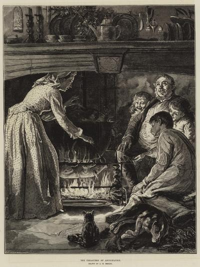 The Pleasures of Anticipation-Alfred Edward Emslie-Giclee Print