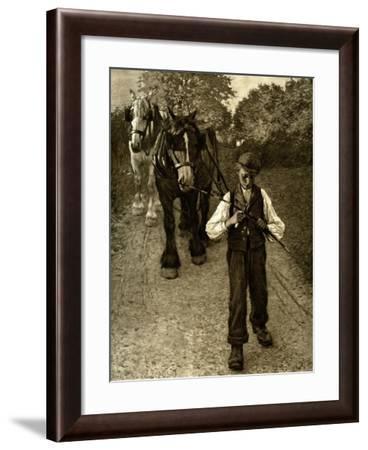 The Plough Boy, 1900-Henry Herbert La Thangue-Framed Giclee Print