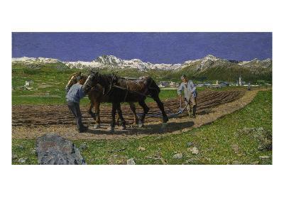 The Plough. (L'Aratura), 1887/1890-Giovanni Segantini-Giclee Print