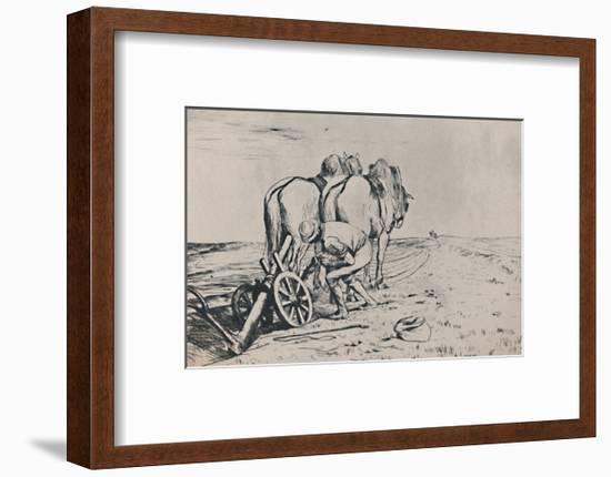 'The Plough', mid-late 19th century, (1946)-Alphonse Legros-Framed Art Print