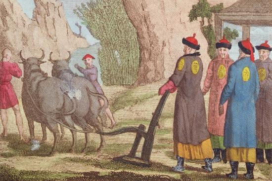 The Ploughing Festival in China--Giclee Print