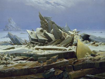 The Polar Sea (The Failed Hope), about 1823/24-Caspar David Friedrich-Giclee Print