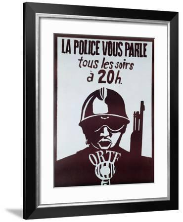 The Police Speaks to You Every Evening at 8Pm'--Framed Giclee Print