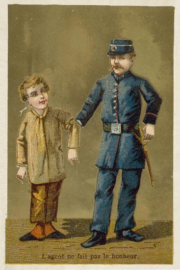 The Policeman Does Not Bring Happiness--Giclee Print