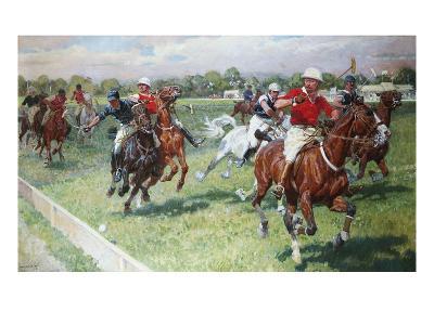 The Polo Game-Ludwig Koch-Giclee Print