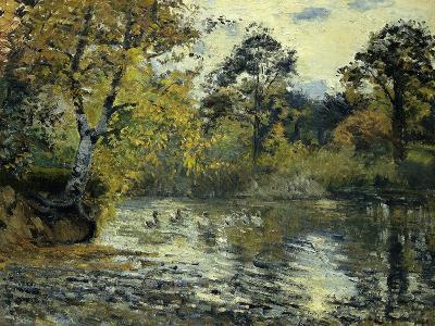 The Pond at Montfoucault; L'Etang De Montfoucault, 1874-Camille Pissarro-Giclee Print