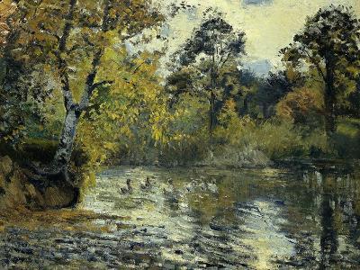 The Pond at Montfoucault-Camille Pissarro-Giclee Print