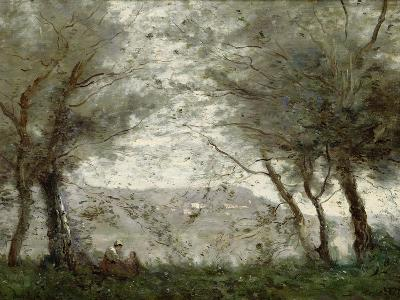 The Pond at Ville-D'Avray Through the Trees, 1871-Jean-Baptiste-Camille Corot-Giclee Print