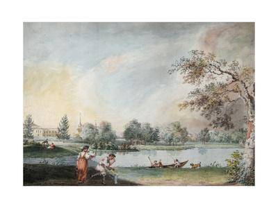 The Ponds before the Urban Estate of Count Alexei Kirillovich Razumovsky in Moscow, Early 1800S-Ivan Alexeyevich Ivanov-Giclee Print