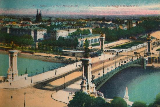 The Pont Alexandre III, Paris, c1920-Unknown-Giclee Print