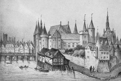 The Pont Aux Meuniers and Part of the Palais Du Roi De La Cite in 1556, 1915--Giclee Print