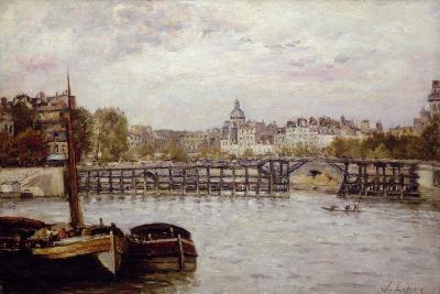 The Pont De L'Estacade, Paris-Stanislas Victor Edouard Lepine-Giclee Print