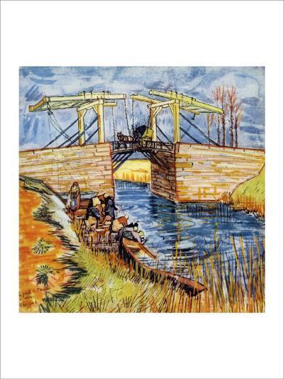 The Pont de Langlois, Arles-Vincent van Gogh-Giclee Print