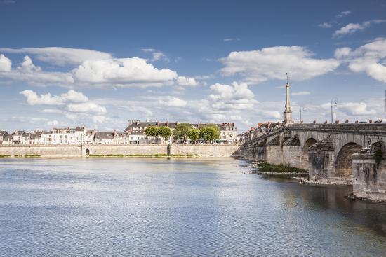 The Pont Jacques Gabriel in Blois, Loir-et-Cher, Centre-Val de Loire, France, Europe-Julian Elliott-Photographic Print