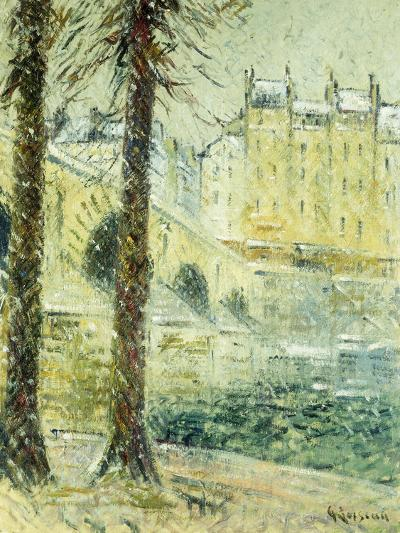The Pont Marie in the Snow; Le Pont Marie, Effet De Neige, C.1926-Gustave Loiseau-Giclee Print