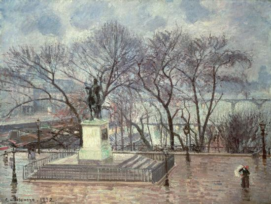 The Pont Neuf, Paris, 1902-Camille Pissarro-Giclee Print