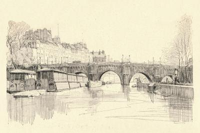 The Pont Neuf Seen from the Locks, 1915-Herman Armour Webster-Giclee Print