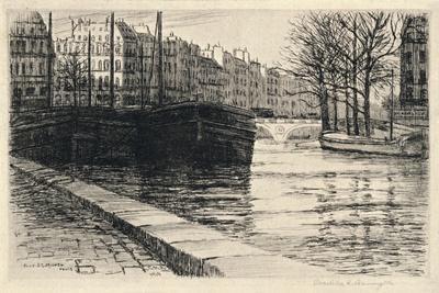 The Pont St Michel, 1915-Caroline Helena Armington-Giclee Print