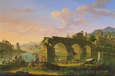 The Ponte Rotto in Rome-Jacob de Heusch-Giclee Print