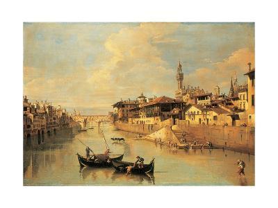 The Ponte Vecchio, Florence-Giuseppe Zocchi-Giclee Print
