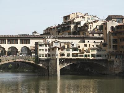 The Ponte Vecchio of Florence Spanning the Arno River--Photographic Print