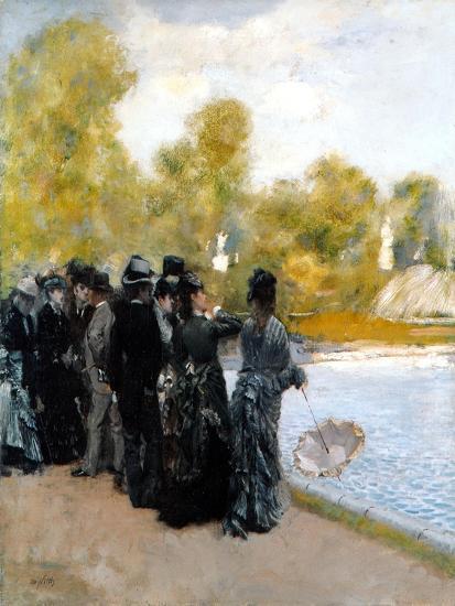 The Pool in the Jardin Du Luxembourg-Giuseppe De Nittis-Giclee Print