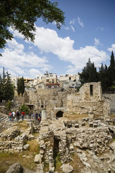 The Pool of Bethesda, the Ruins of the Byzantine Church, Jerusalem, Israel, Middle East-Yadid Levy-Photographic Print