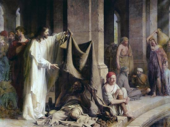 The Pool of Bethesda-Carl Bloch-Giclee Print