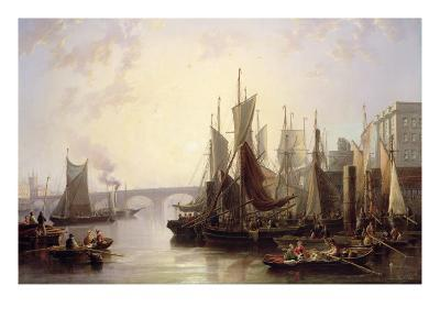 The Pool of London-John Wilson Carmichael-Giclee Print