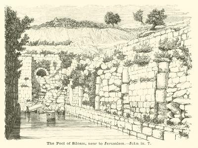 The Pool of Siloam, Near to Jerusalem, John, IX, 7--Giclee Print