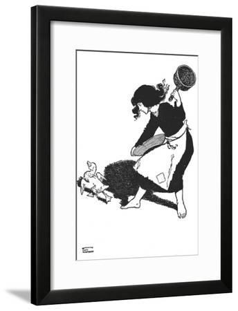 'The Poor Duckling Was Scorned By All', c1930-W Heath Robinson-Framed Giclee Print